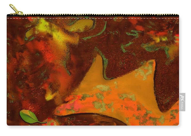 Autumn Carry-all Pouch featuring the digital art Autumn Crown by Mathilde Vhargon
