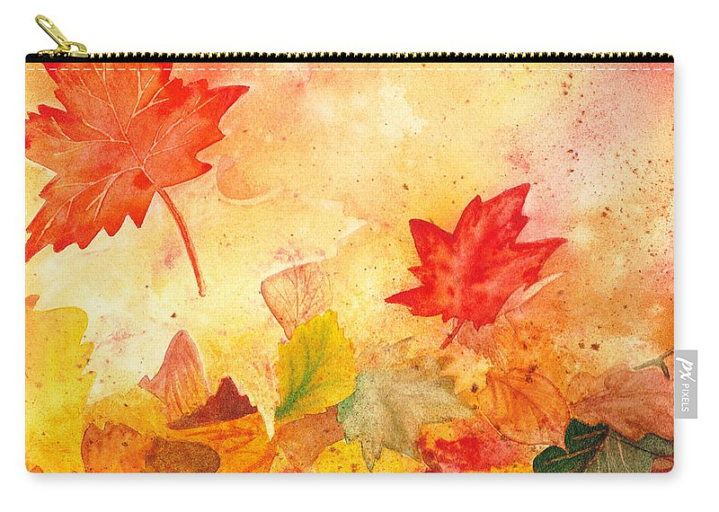Fall Carry-all Pouch featuring the painting Autumn Dance by Irina Sztukowski