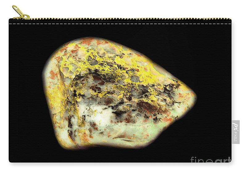 Carry-all Pouch featuring the photograph Autumn Dryad Under The Colored Oak by James Christiansen