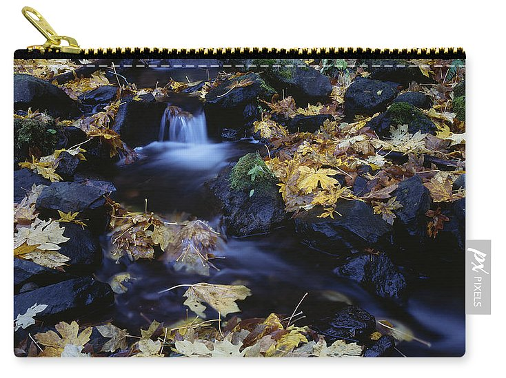 Americana Carry-all Pouch featuring the photograph Autumn Fall Colors Starvation Creek State Park by Jim Corwin