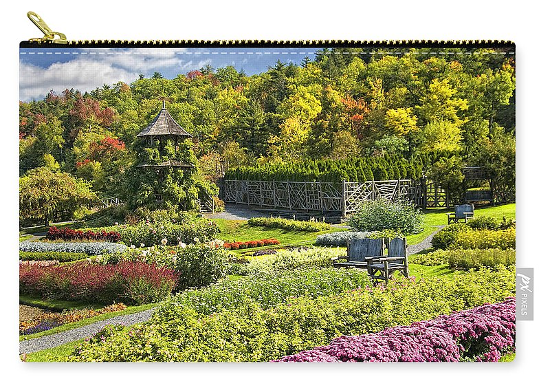 Mohonk Carry-all Pouch featuring the photograph Autumn Garden by Claudia Kuhn