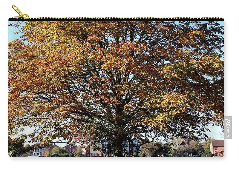 Riverside Park Carry-all Pouch featuring the photograph Autumn Gold by Terri Waters