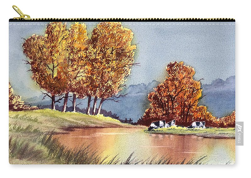 Bill Holkham Carry-all Pouch featuring the painting Autumn Golds by Bill Holkham