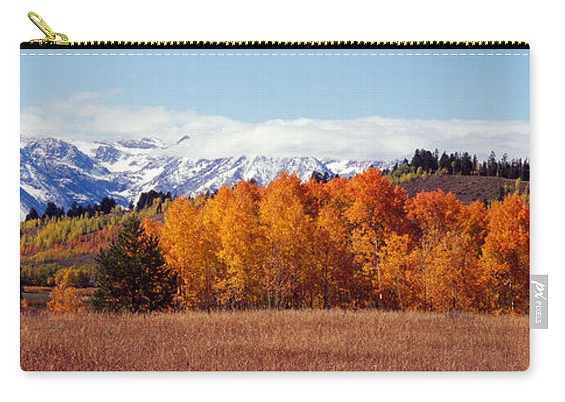 Photography Carry-all Pouch featuring the photograph Autumn Grand Teton National Park Wy by Panoramic Images