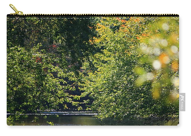 River Carry-all Pouch featuring the photograph Autumn Highlights On The Quinnebaug River by Neal Eslinger