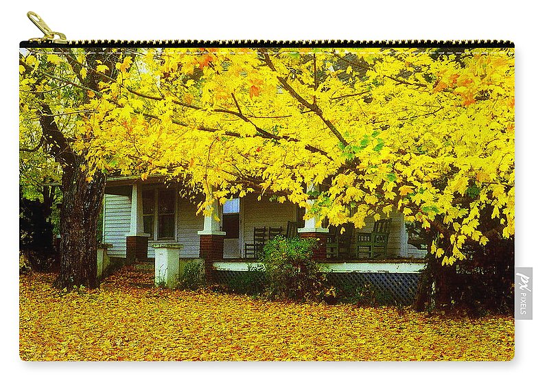 House Carry-all Pouch featuring the photograph Autumn Homestead by Rodney Lee Williams