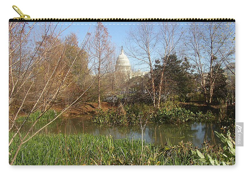 Travel Carry-all Pouch featuring the photograph Autumn In Washington Dc by Nancy Worrell