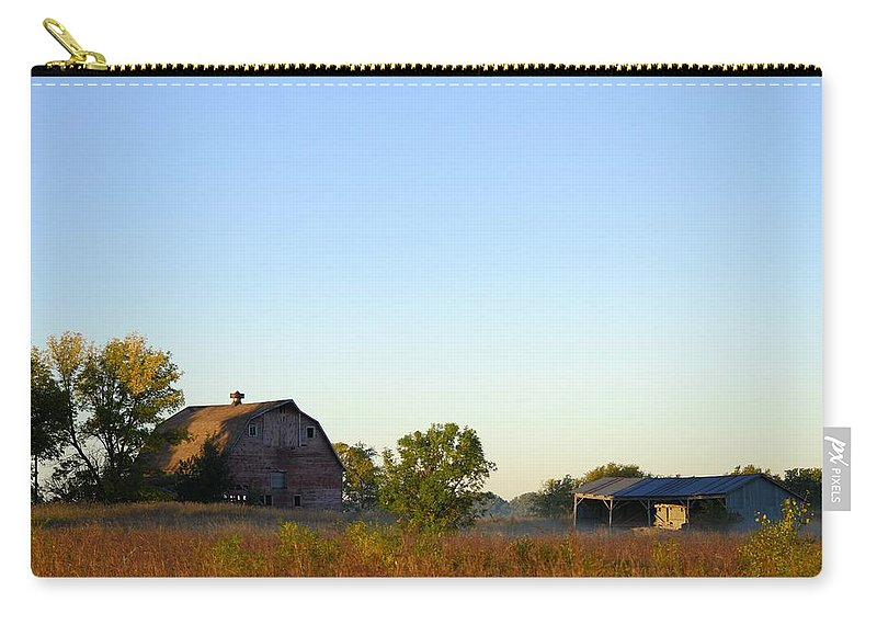 Barn Carry-all Pouch featuring the photograph Autumn In Iowa by Bonfire Photography