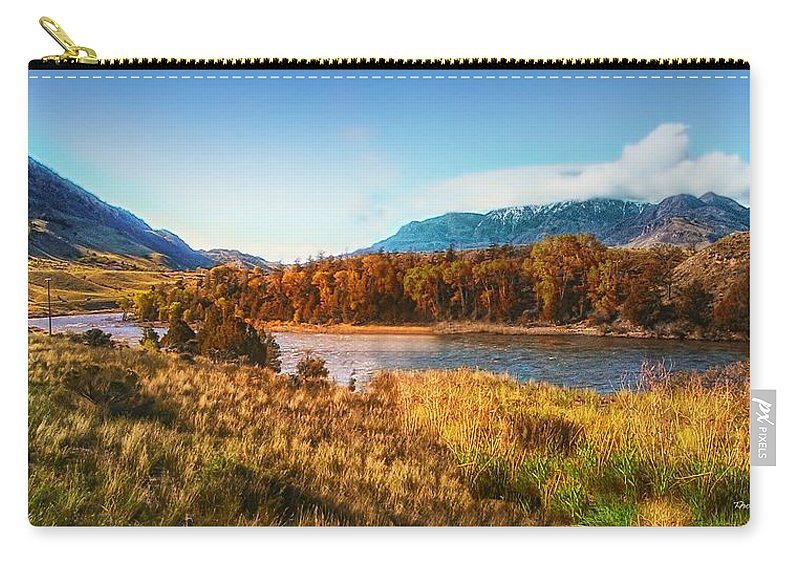 Montana Carry-all Pouch featuring the photograph Autumn In Montana by Thomas Woolworth