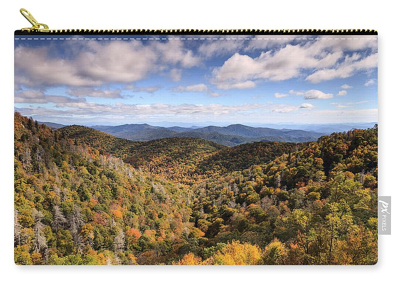 Western North Carolina Carry-all Pouch featuring the photograph Autumn In The Blue Ridge Mountains by Carol VanDyke