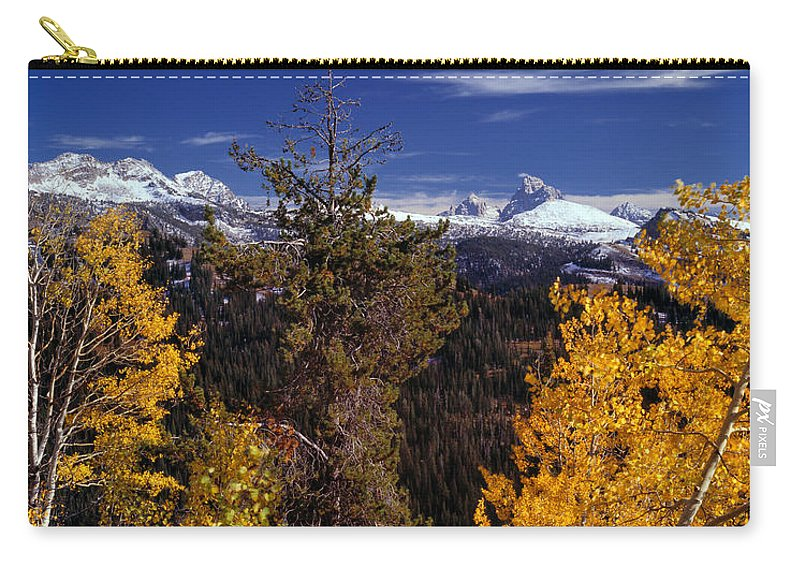Aspens Carry-all Pouch featuring the photograph Autumn In The Tetons by Leland D Howard
