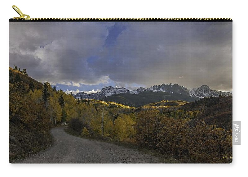 Landscape Carry-all Pouch featuring the photograph Autumn Journey by Bill Sherrell