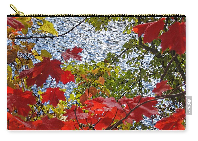 Autumn Carry-all Pouch featuring the photograph Autumn Lake by Ann Horn