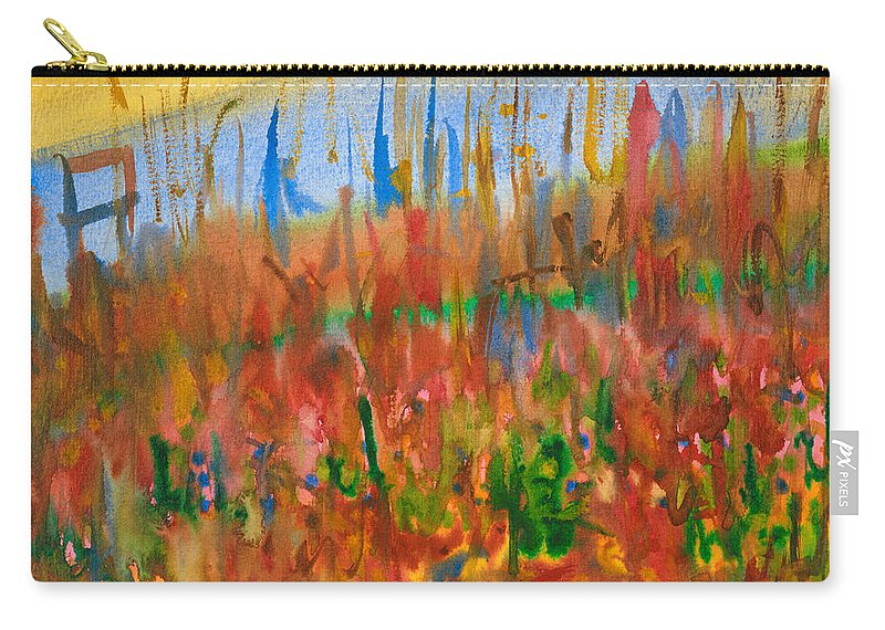 Fall Carry-all Pouch featuring the painting Autumn Leaves by Bjorn Sjogren