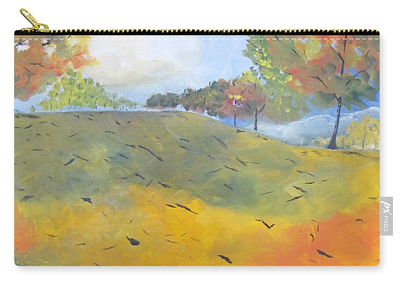 Acrylic Carry-all Pouch featuring the painting Autumn Leaves Panel 2 Of 2 by Gary Smith