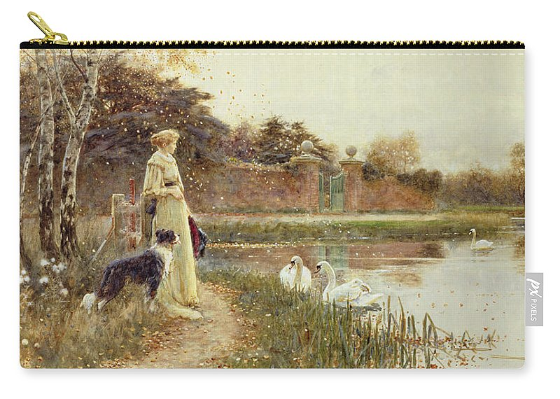Autumnal Carry-all Pouch featuring the painting Autumn Leaves by Thomas James Lloyd