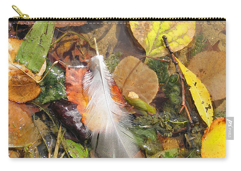 Autumn Carry-all Pouch featuring the photograph Autumn Leavings by Ann Horn