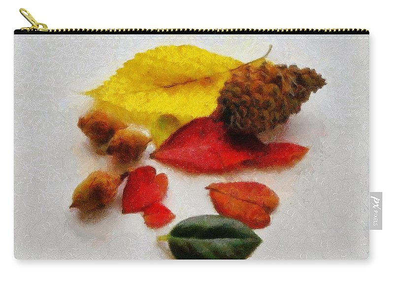 Acorn Carry-all Pouch featuring the painting Autumn Medley by Jeffrey Kolker