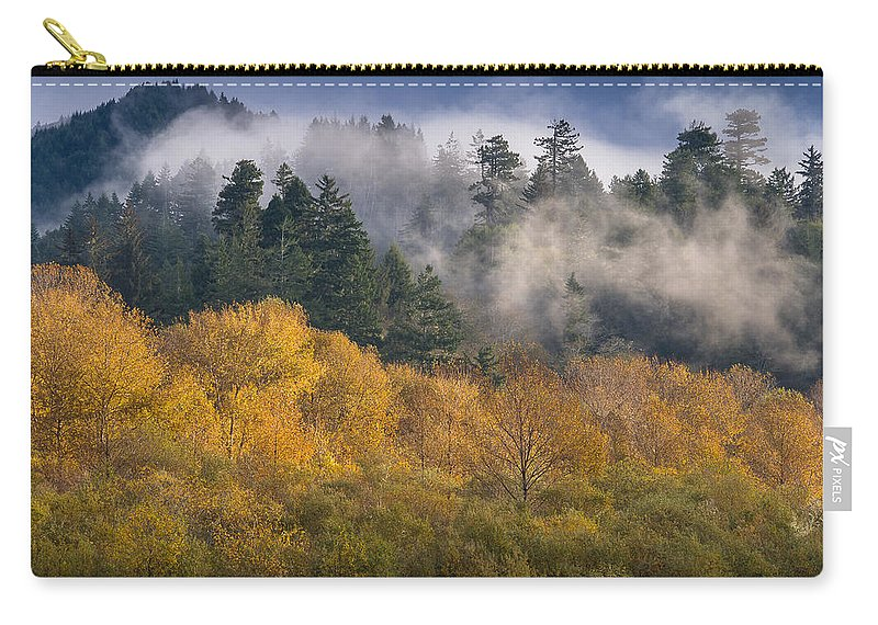 Fog Carry-all Pouch featuring the photograph Autumn Mists by Greg Nyquist