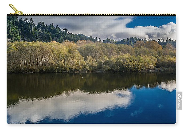 Clouds Carry-all Pouch featuring the photograph Autumn On The Klamath 10 by Greg Nyquist