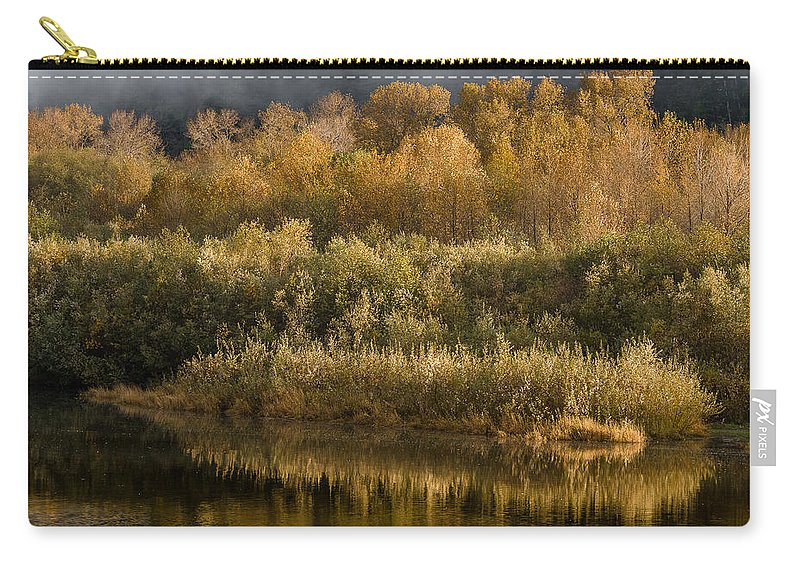 Fog Carry-all Pouch featuring the photograph Autumn On The Klamath 3 by Greg Nyquist