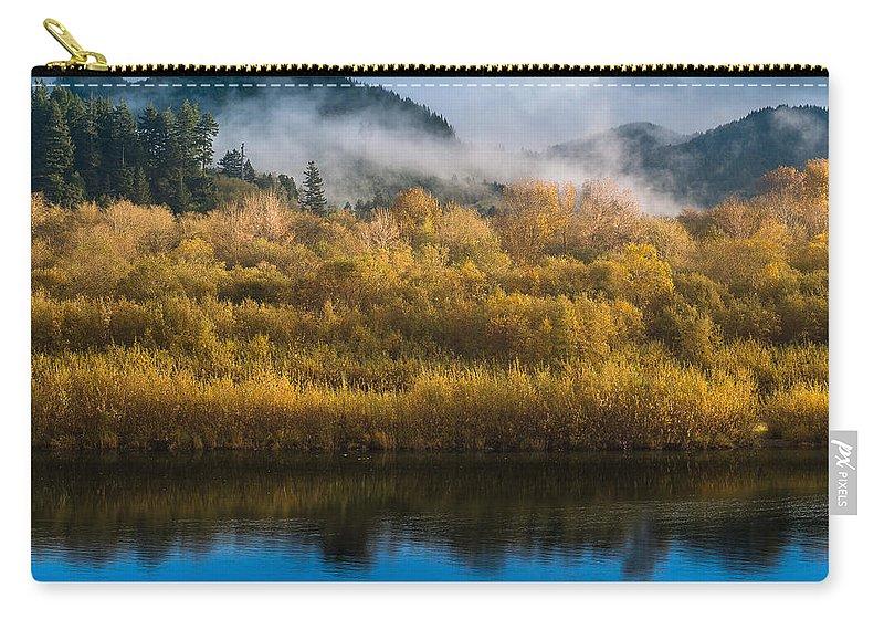 Fog Carry-all Pouch featuring the photograph Autumn On The Klamath 5 by Greg Nyquist