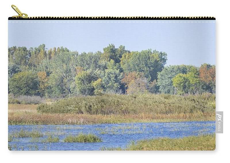 Autumn Carry-all Pouch featuring the photograph Autumn On The Marsh by Bonfire Photography