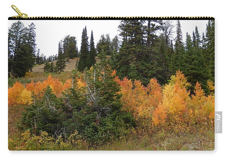 Heather Coen Carry-all Pouch featuring the photograph Autumn Panorama by Heather Coen