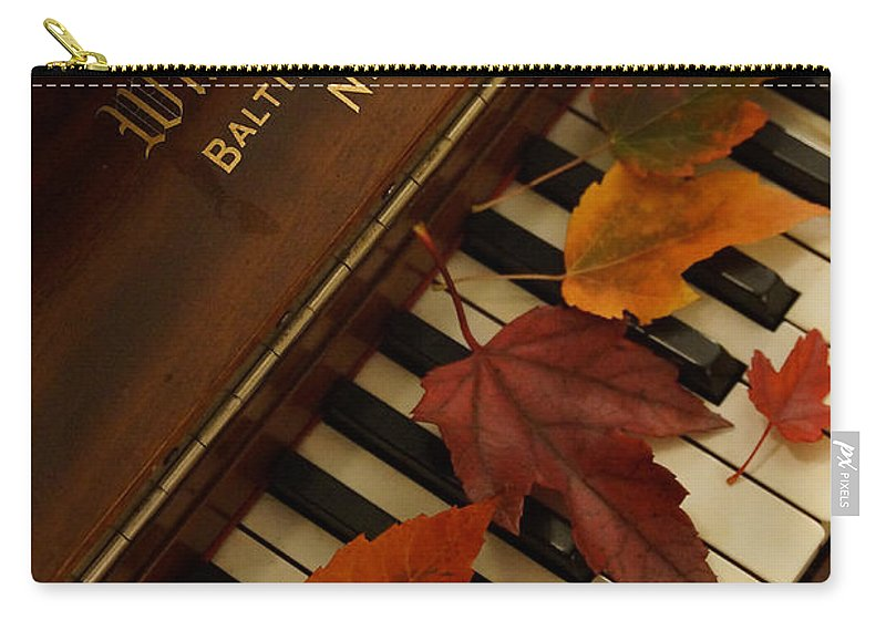 Autumn Carry-all Pouch featuring the photograph Autumn Piano 11 by Mick Anderson