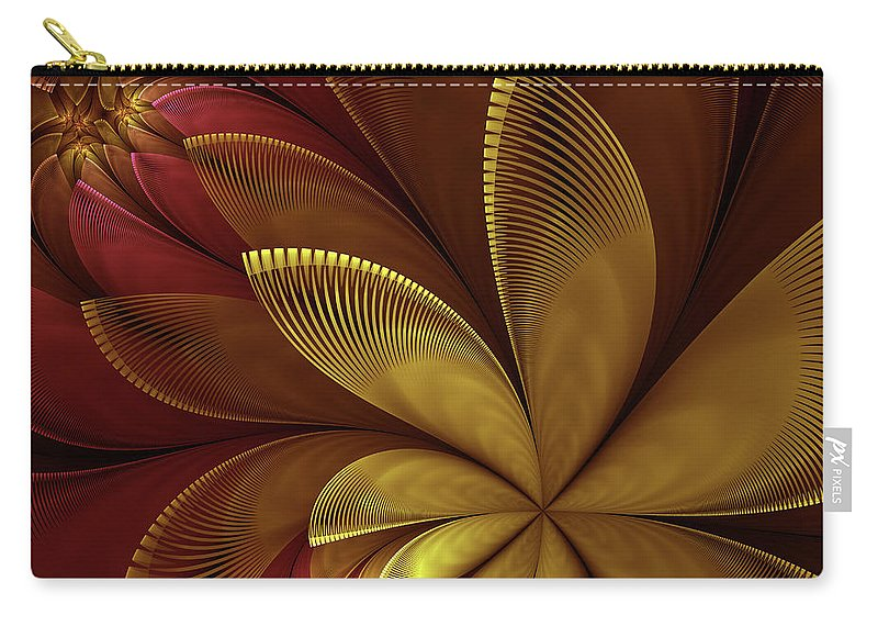 Flower Carry-all Pouch featuring the digital art Autumn Plant by Gabiw Art