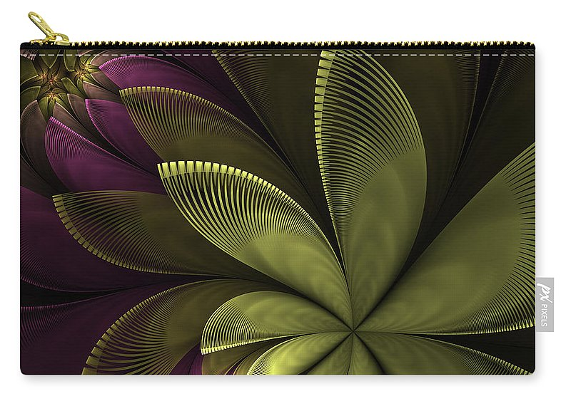 Flower Carry-all Pouch featuring the digital art Autumn Plant II by Gabiw Art
