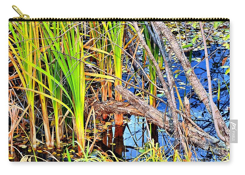Abstract Carry-all Pouch featuring the photograph Autumn Pond by Lauren Leigh Hunter Fine Art Photography