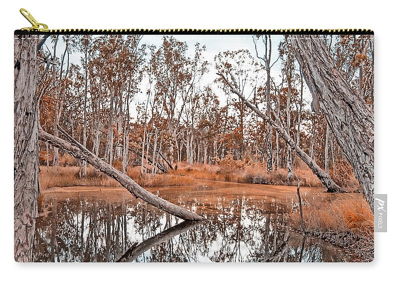 Autumn Carry-all Pouch featuring the photograph Autumn Reflections V2 by Douglas Barnard