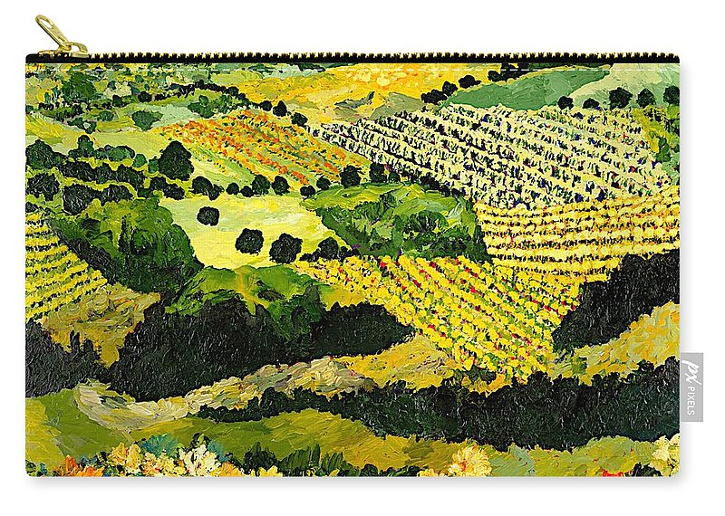 Landscape Carry-all Pouch featuring the painting Autumn Remembered by Allan P Friedlander