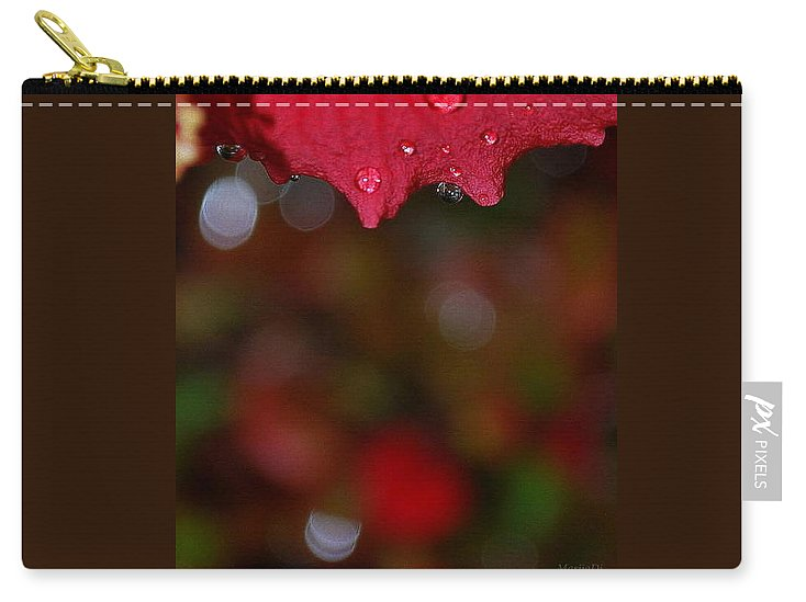 Water Drops Carry-all Pouch featuring the photograph Autumn Rhapsody by Marija Djedovic