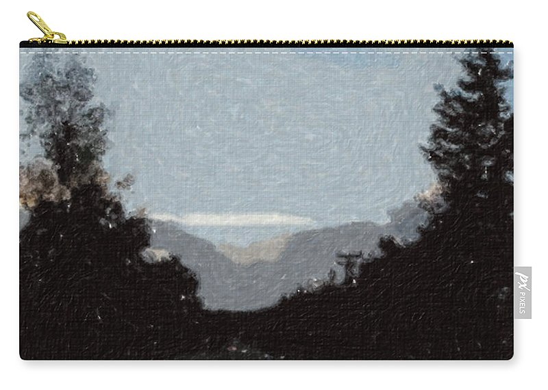 Autumn Carry-all Pouch featuring the painting Autumn Roads by Sergey Bezhinets