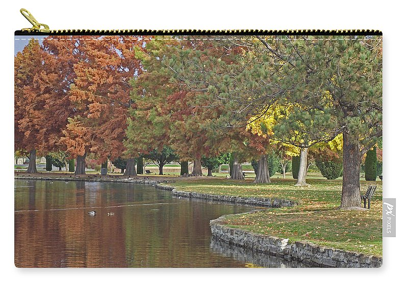 Autumn Carry-all Pouch featuring the photograph Autumn Serenity by Mike and Sharon Mathews
