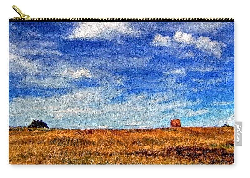 Ontario Carry-all Pouch featuring the photograph Autumn Sky Impasto by Steve Harrington