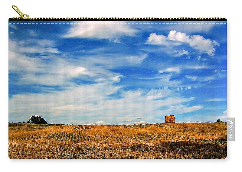 Ontario Carry-all Pouch featuring the photograph Autumn Sky by Steve Harrington