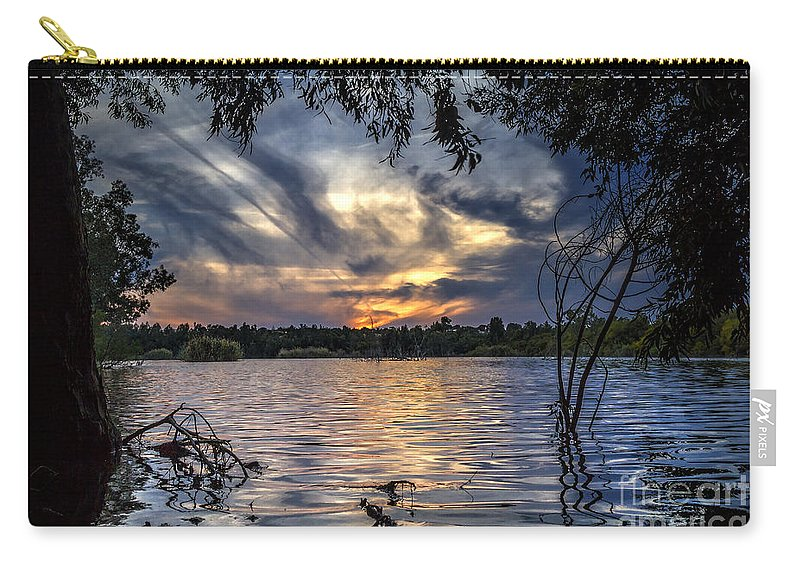 Autumn Carry-all Pouch featuring the photograph Autumn Sky by Stelios Kleanthous