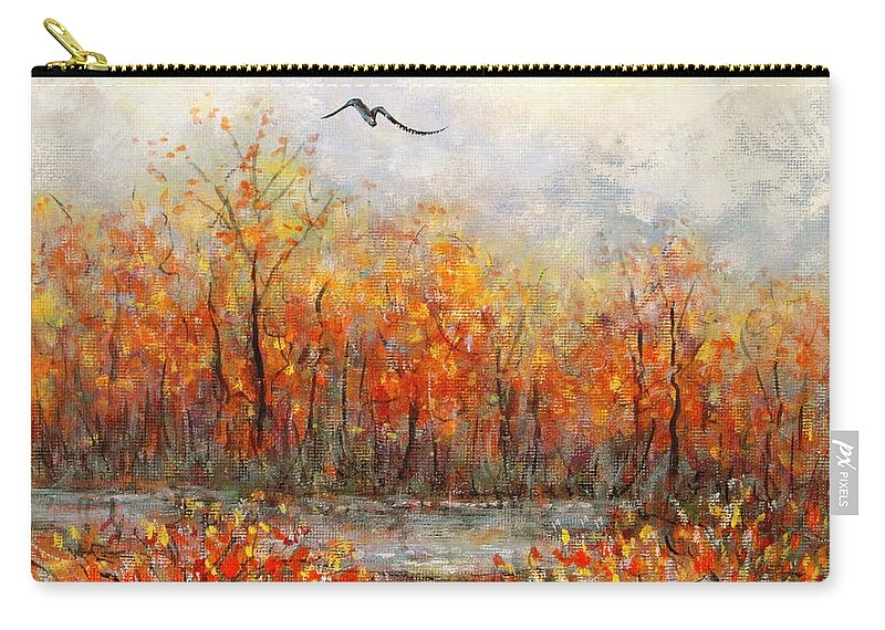 Landscapes Carry-all Pouch featuring the painting Autumn Song by Natalie Holland