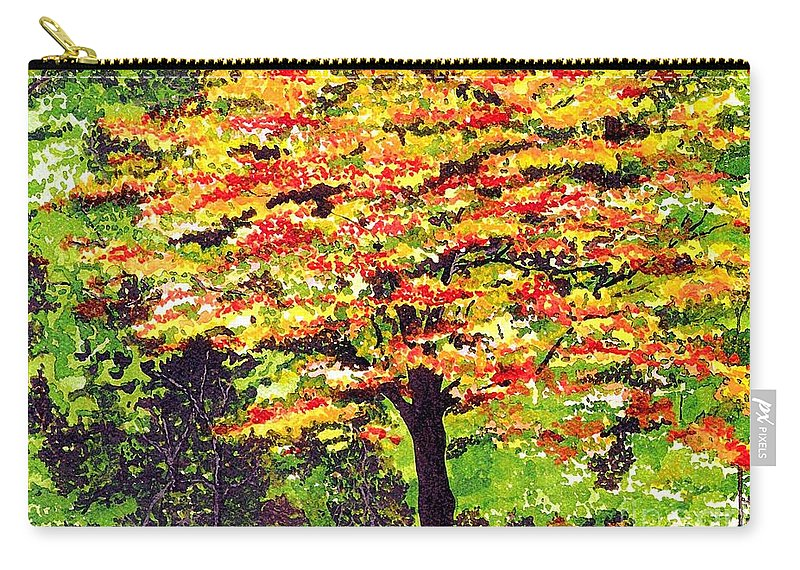 Fine Art Carry-all Pouch featuring the painting Autumn Splendor by Patricia Griffin Brett