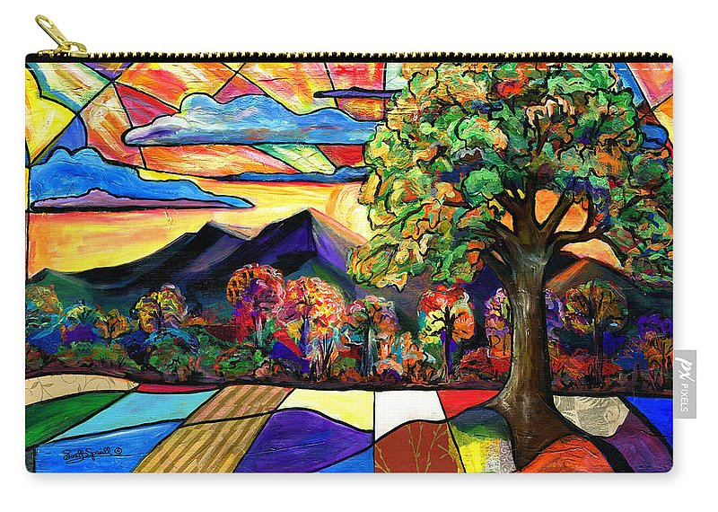 Everett Spruill Carry-all Pouch featuring the painting Autumn Sunrise by Everett Spruill