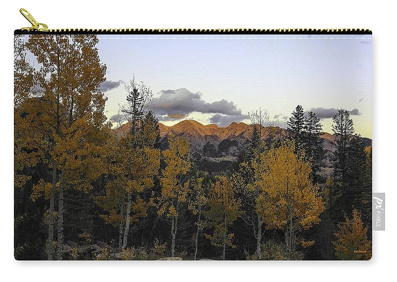 Landscape Carry-all Pouch featuring the photograph Autumn Sunset by Bill Sherrell