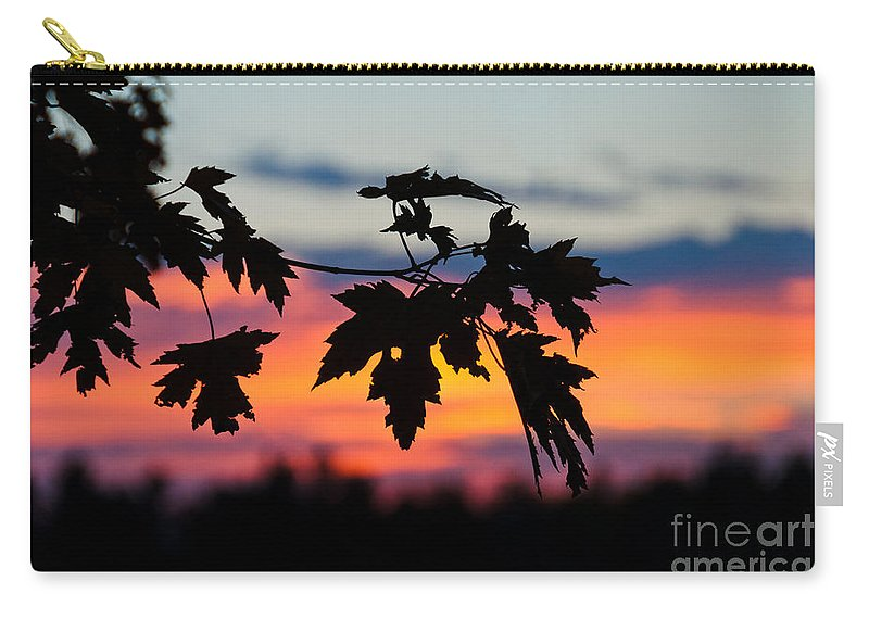 Sunset Sky Carry-all Pouch featuring the photograph Autumn Sunset by Cheryl Baxter