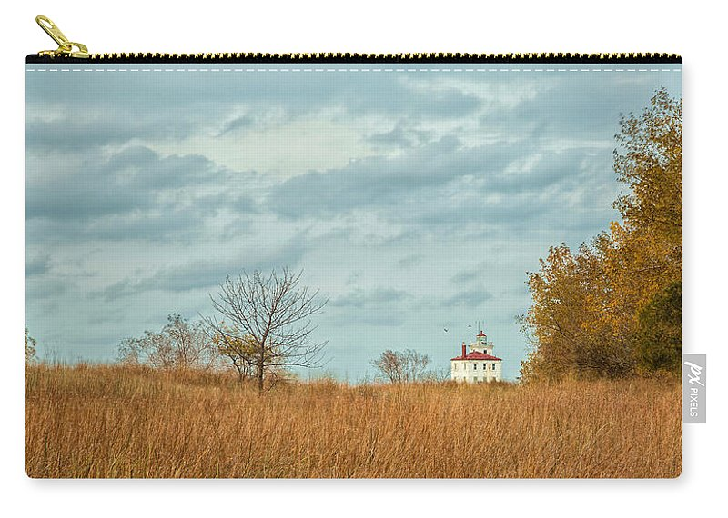 Autumn Twilight Carry-all Pouch featuring the photograph Autumn Twilight Pano by Dale Kincaid