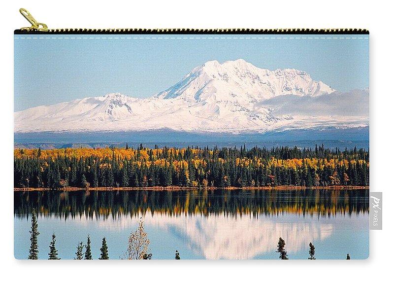 Alaska Carry-all Pouch featuring the photograph Autumn View Of Mt. Drum - Alaska by Juergen Weiss