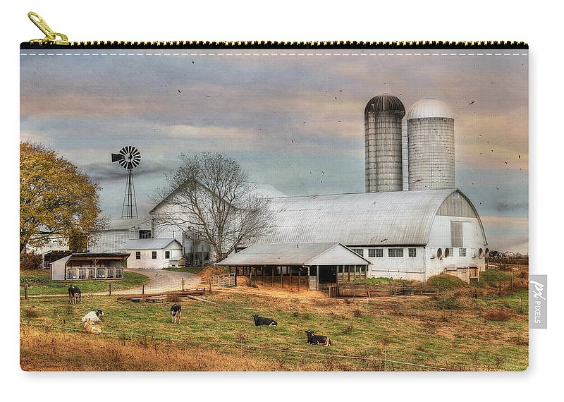 Country Carry-all Pouch featuring the photograph Autumn Wind by Lori Deiter