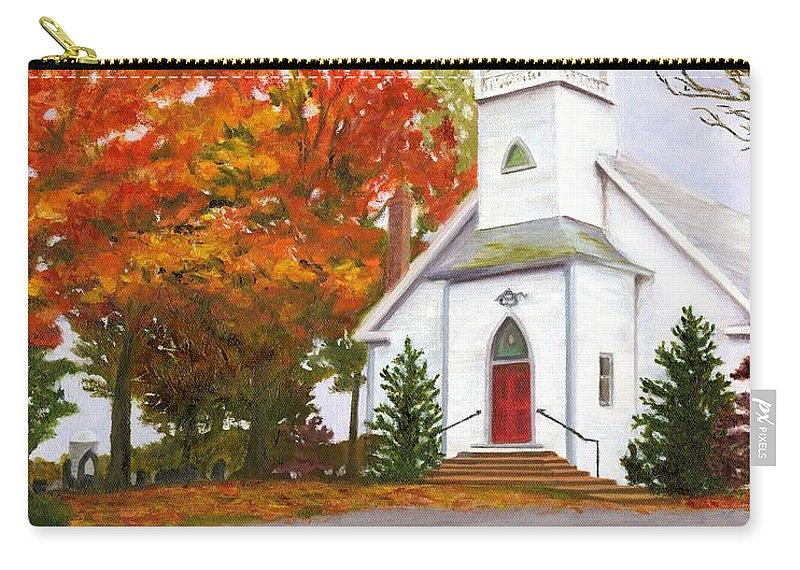 Fall Carry-all Pouch featuring the painting Autumn Worship by Deborah Butts