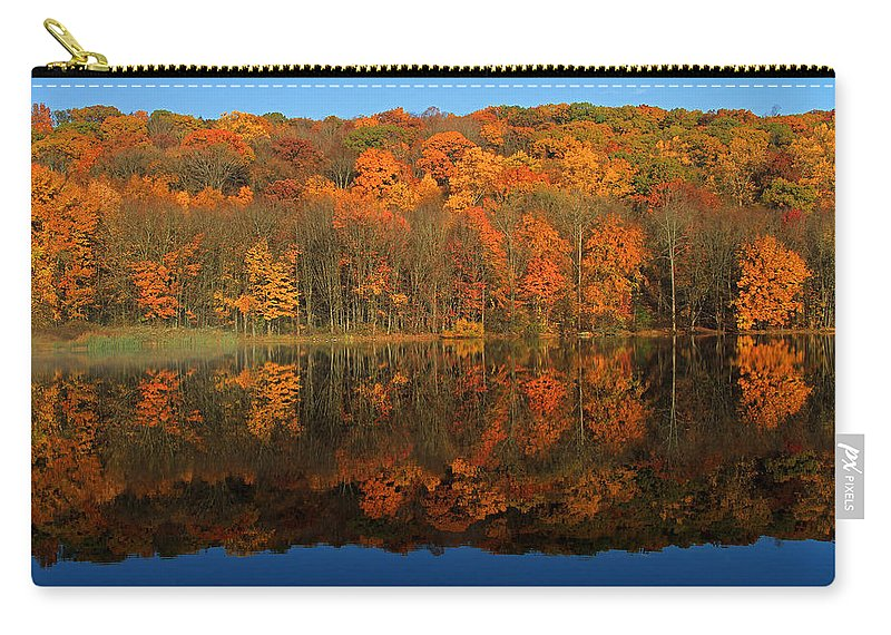 Reflection Carry-all Pouch featuring the photograph Autumns Colorful Reflection by Karol Livote